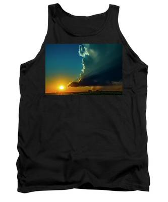 Tank Top featuring the photograph Dying Nebraska Thunderstorms At Sunset 068 by NebraskaSC