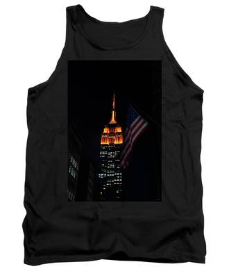 Empire State Building American Flag Tank Top