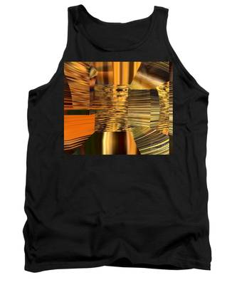 Tank Top featuring the digital art Gold  by A z Mami