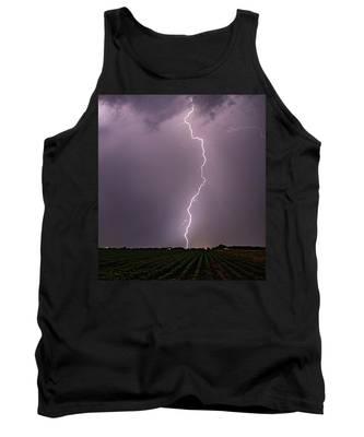 Mid July Nebraska Lightning 018 Tank Top by Dale Kaminski