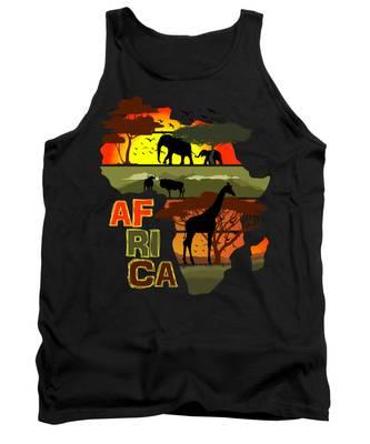 African Tank Tops