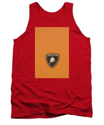 Lambo Hood Ornament Orange Tank Top