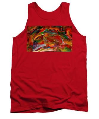 Rainbow Blossom Tank Top