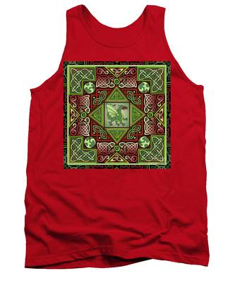 Celtic Dragon Labyrinth Tank Top
