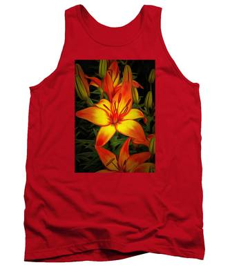 Golden Lilies Tank Top