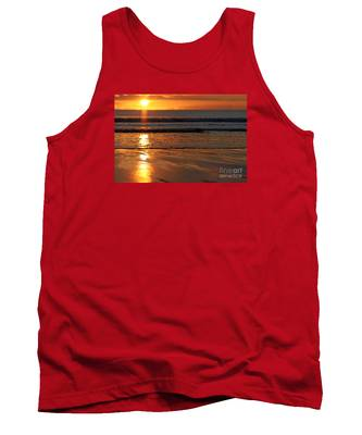 Llangennith Beach Sand Textures Tank Top