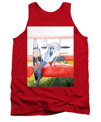Reflection On Biplane Tank Top