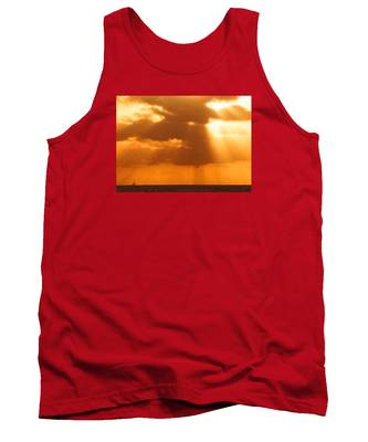 Sailboat Bathed In Hazy Rays Tank Top