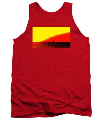 Sailboat Horizon Poster Tank Top