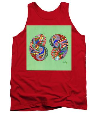 Sea Shells Yin Yang Tank Top