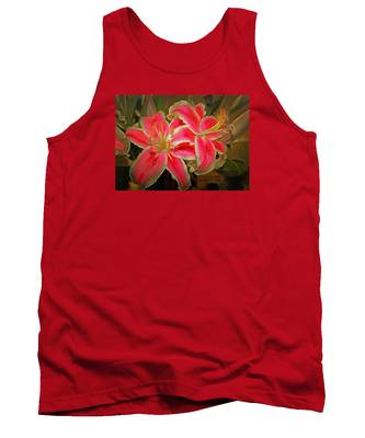 Star Gazer Lilies Tank Top