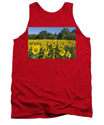 Tank Top featuring the photograph Sunflowers Provence  by Juergen Held