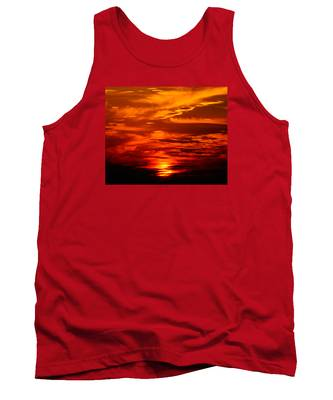 Sunrise Feathers Tank Top