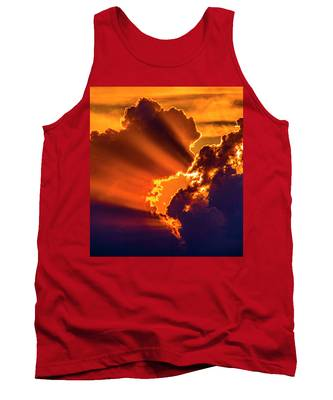 Tank Top featuring the photograph Sweet Nebraska Crepuscular Rays 010 by NebraskaSC