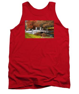The Bridge To Autumn By Mike Hope Tank Top