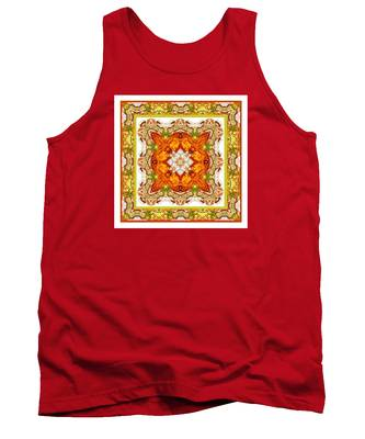 Topaz And Peridot Bling Kaleidoscope Tank Top
