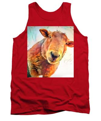 A Curious Sheep Called Shawn Tank Top