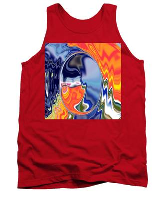 Tank Top featuring the digital art  Ooo by A z akaria Mami