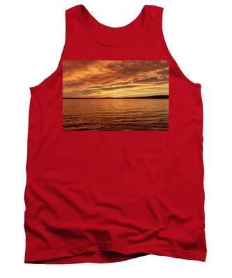 Percy Priest Lake Sunset Tank Top