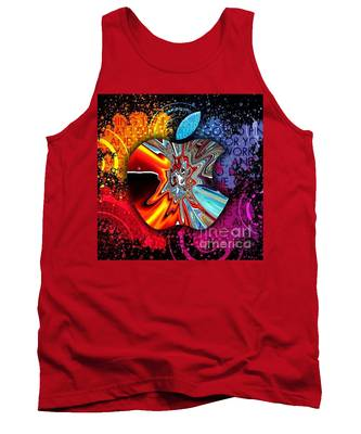Tank Top featuring the digital art Say Some Thing  by A z Mami