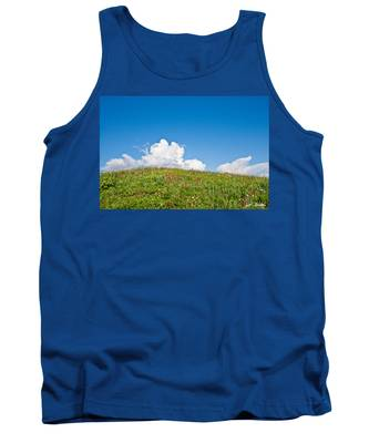 Alpine Meadow And Cloud Formation Tank Top