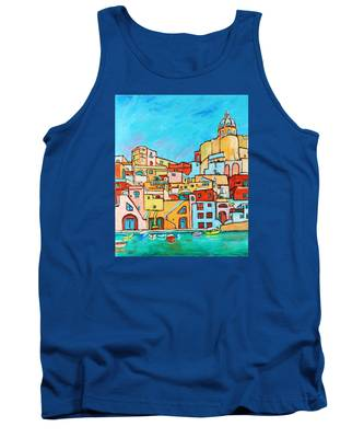 Boats In Front Of The Buildings Vii Tank Top