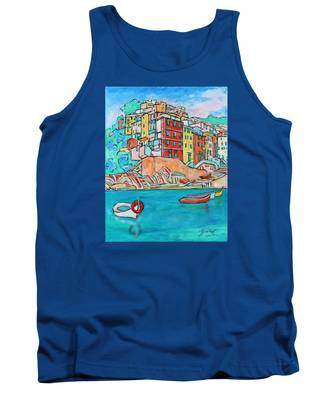 Boats In Front Of The Buildings X Tank Top