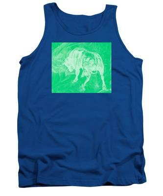 Green Bull Negative Tank Top