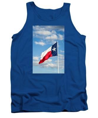 Texas State Flag Waving Tank Top