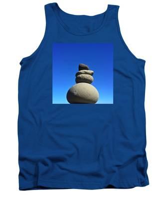 Beach Snowman Tank Top