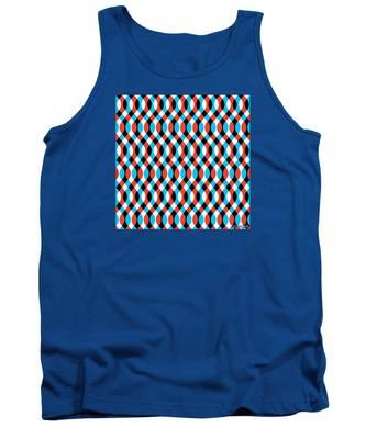 Brain Waves - Blue Tank Top