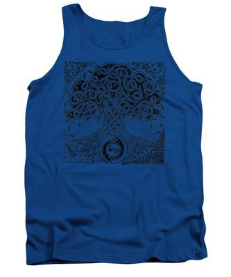 Circle Celtic Tree Of Life Inked Tank Top