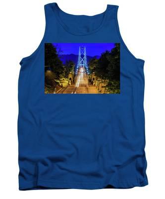Lions Gate Bridge At Night Tank Top