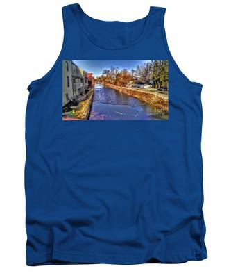 The Canal At New Hope In Winter Tank Top