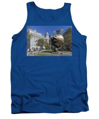 Tank Top featuring the photograph The Sphere Batterie Park Nyc by Juergen Held