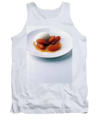 Apricots Served With Vanilla Ice Cream Tank Top