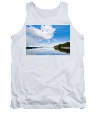 Clouds Reflected In Puget Sound Tank Top