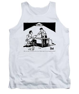 In A Stereotypical Interrogation Room Tank Top