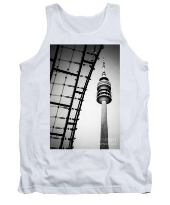 Munich - Olympiaturm And The Roof - Bw Tank Top