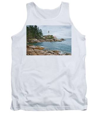 Point Atkinson Lighthouse And Rocky Shore Tank Top