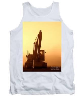 Sunset Excavator Tank Top