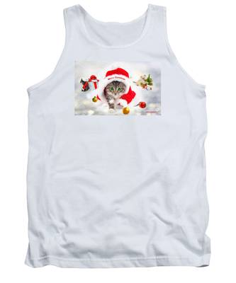 Three Christmas Kittens Tank Top