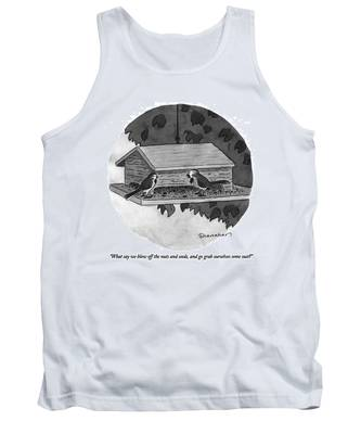What Say We Blow Off The Nuts And Seeds Tank Top