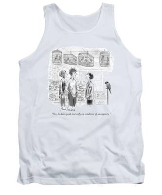 Yes, He Does Speak, But Only On Condition Tank Top