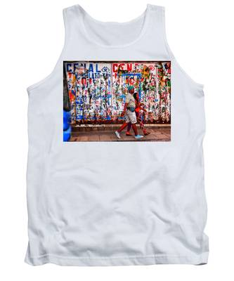 Tank Top featuring the photograph Cenal Truckin' by Skip Hunt