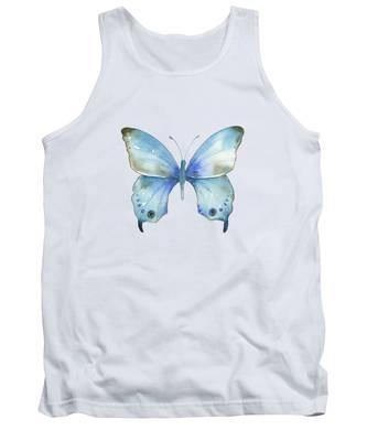 #109 Blue Diana Butterfly Tank Top