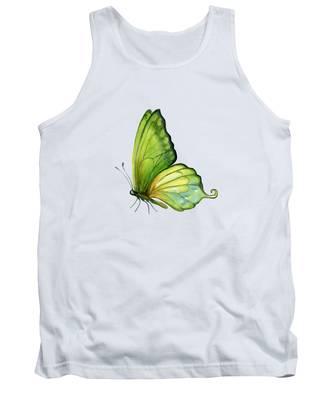 5 Sap Green Butterfly Tank Top