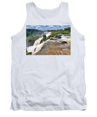 Tank Top featuring the photograph Brazil,iguazu Falls, by Juergen Held