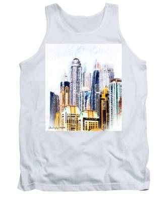 City Abstract Tank Top
