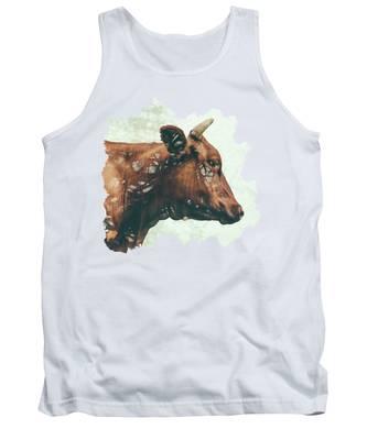 Cow Tank Tops